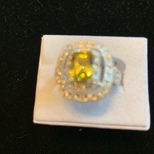 Jewelry - NWT. Citrine and white topaz sterling silver ring